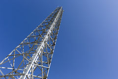 Communication tower in the mountain Royalty Free Stock Image