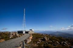 Communication tower. The communication tower on Mt Wellington Tasmania stock photography