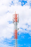 Communication tower over a blue sky Royalty Free Stock Images