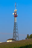 Communication Tower on rural field Royalty Free Stock Photography