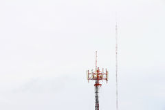Communication Tower. On sky background Royalty Free Stock Photo