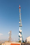 Communication tower on Srd hill Stock Image