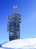 Communication tower on top of mount Titlis. Stock Photography