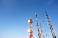 Communication towers Stock Photos