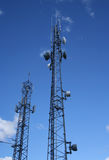 Communication towers Stock Images