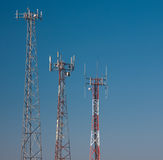 Communication Towers Royalty Free Stock Photos