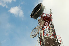 Communication towers royalty free stock photography