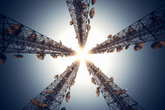 Communication towers. Stock Image