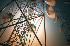 Communication towers. Royalty Free Stock Image