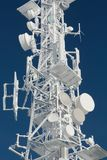 Transmitter tower frozen in winter frost Royalty Free Stock Photo