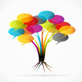 Communication tree. Abstract vector illustration Royalty Free Stock Photo