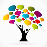 Communication tree. Abstract vector illustration background Stock Photography