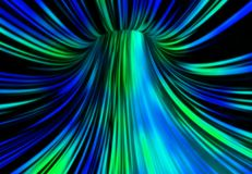 The Communication Tunnel. Abstract tunnel in blue and green tones. 3D rendering Royalty Free Stock Images