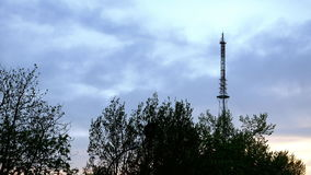 Communication TV tower timelapse stock video footage
