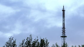 Communication TV tower timelapse stock footage