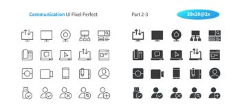 Communication UI Pixel Perfect Well-crafted Vector Thin Line And Solid Icons 30 2x Grid for Web Graphics and Apps. Simple Minimal Pictogram Part 2-3 Stock Image