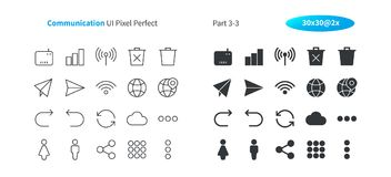 Communication UI Pixel Perfect Well-crafted Vector Thin Line And Solid Icons 30 2x Grid for Web Graphics and Apps. Simple Minimal Pictogram Part 3-3 Royalty Free Stock Photos