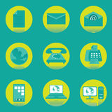 Communication Vector and Icon Royalty Free Stock Photography