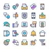 Communication Vector Icons Set vector illustration