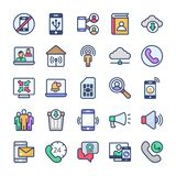 Communication Vector Icons Bundle stock illustration