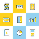 Communication vector icons set Stock Images