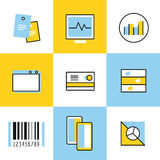 Communication vector icons set Stock Photography