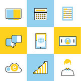 Communication vector icons set Stock Image