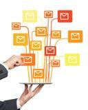 Communication via Internet Stock Image