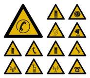 Communication warning sign vector illustration