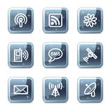 Communication web icons vector illustration