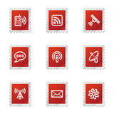 Communication web icons Royalty Free Stock Photography
