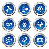 Communication web icons Stock Photos