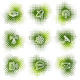 Communication web icons Royalty Free Stock Images