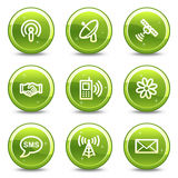 Communication web icons Stock Images