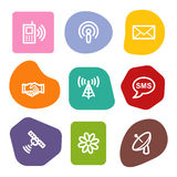 Communication web icons, colour spots series Stock Photos