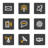Communication web icons, grey buttons series royalty free illustration