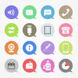 Communication web icons set Royalty Free Stock Images