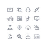 Communication and web vector line icons Stock Photos