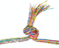 Communication wire Royalty Free Stock Photography