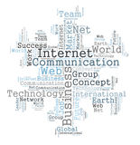 Communication word cloud Stock Images