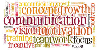 Communication word cloud Stock Photos
