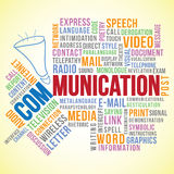 Communication Word Cloud Stock Image