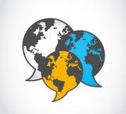 Communication world icon Royalty Free Stock Images
