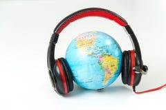 Communication world listening isolated Royalty Free Stock Photos