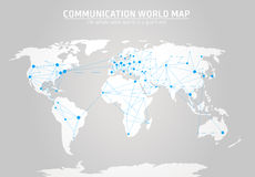 Communication world map  Royalty Free Stock Photo