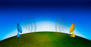 Communications 2. Colors communications antenna blue sky Stock Photo