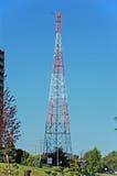 Communications antenna. Microwave telecom link Stock Photos