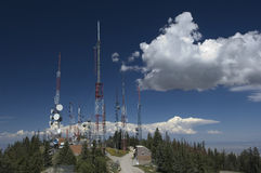 Communications Antenna. Radio, Television and telephone  sit atop a mountain in central New Mexico stock photos