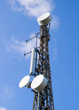 Communications antenna and blue sky Royalty Free Stock Photos