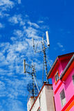 Communications antenna. Royalty Free Stock Image